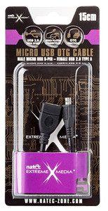 Natec KABEL USB MICRO BM-> AF USB 2.0 15CM OTG 15CM EXTREME MEDIA BLISTER)