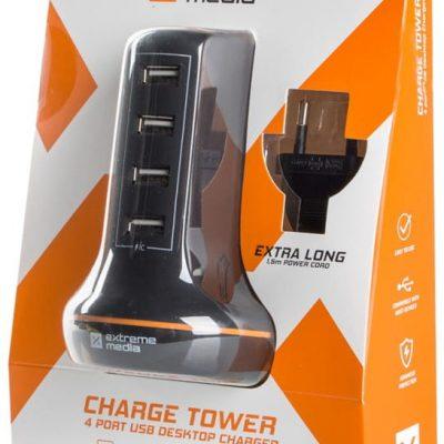 Natec Ładowarka sieciowa 230V -> USB 5V/6A 4 porty 1_622153