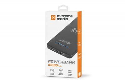 Natec Power Bank EXTREME MEDIA 10000mAh czarny (NPB-1220)