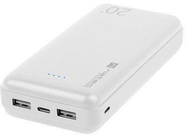 Natec Power Bank Extreme Media Trevi 20000mAh 2x USB + 1x USB-C biały