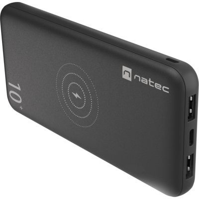 Natec Powerbank Trevi Wireless 10000mAh Czarny