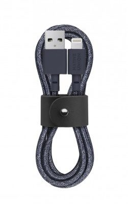 Native Union Belt Cable kabel Lightning ze skórzanym zapięciem 1,2m indigo)