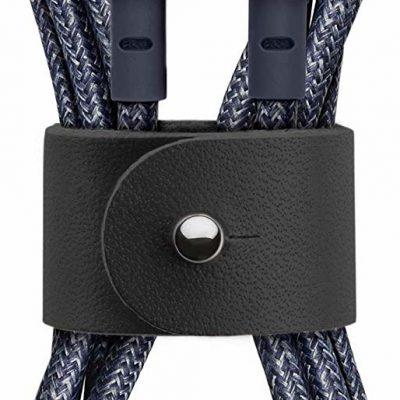 Native Union Belt Cable Wzmocniony Kabel USB Lightning ze Skórzanym Zapięciem 1,2m (Indigo) BELT-KV-L-IND-2