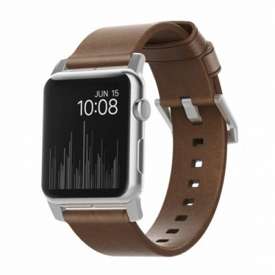 NOMAD Strap Modern Leather Brown 42mm / 44mm Silver (NM1A4RSM00)