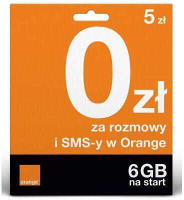 ORANGE Pakiet startowy ORANGE One 5 zł