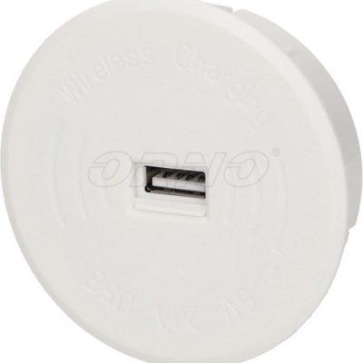 Orno Bezprzewodowa ładowarka indukcyjna z dodatkowym portem USB biała OR-AE-1367/W