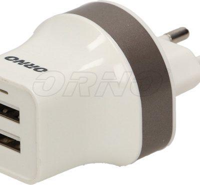 Orno Ładowarka sieciowa z 2 portami USB OR-AE-1392