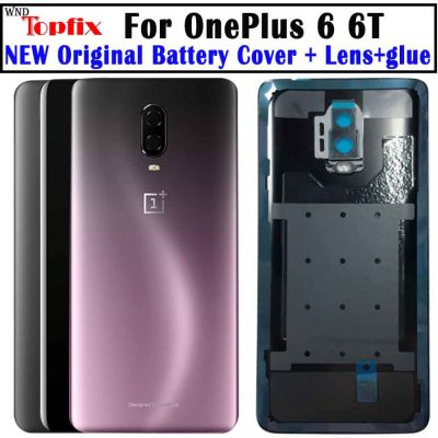 Oryginalne szkło do OnePlus 6 6T tylna pokrywa baterii tylna szyba Oneplus 7 Pro pokrywa baterii 1 +