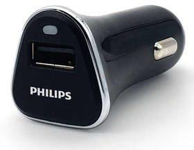 Philips Zasilacz samochodowy DLP2359 1x USB 2,1A Phil-DLP2359/10) Czarna