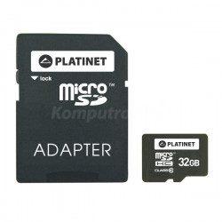 Platinet microSDHC 32GB class 10 Adapter SD (PMMSD3210)