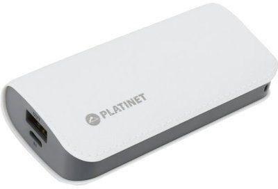 Platinet Powerbank Leather 5200mAh Biały