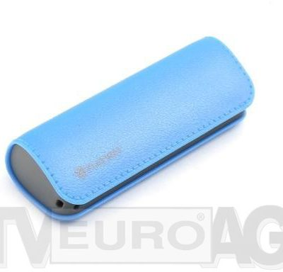 Platinet Powerbank POWER BANK LEATHER 2600mAh BLUE + microUSB cable 43405