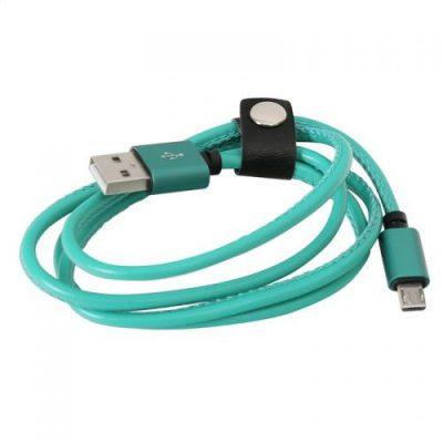Platinet USB A MicroUSB 1m Zielony