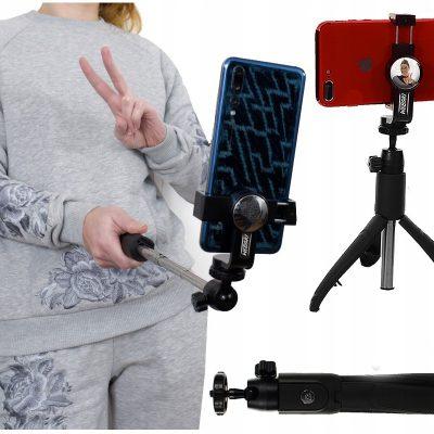 PLUS Monopod Kij Selfie Statyw Bluetooth składany
