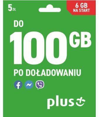 PLUS Pakiet startowy Internet 6 GB