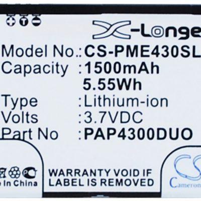 Prestigio MultiPhone 4300 Duo / PAP4300DUO 1500mAh 5.55Wh Li-Ion 3.7V (Cameron S (CS-PME430SL)