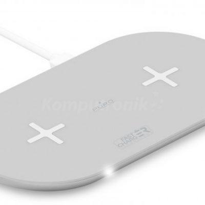 PURO Fast Wireless Dual Dock Qi biały (FCCSQI20W1WHI)