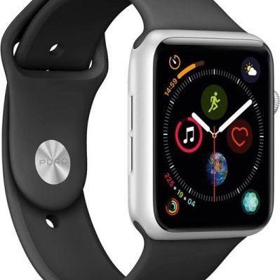 PURO ICON Apple Watch Band Elastyczny pasek sportowy do Apple Watch 42 44 mm S/M &amp M/L czarny AW44ICONBLK