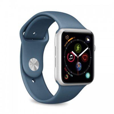 PURO ICON Apple Watch Band - Elastyczny pasek sportowy do Apple Watch 42 / 44 mm (S/M & M/L) (Avio)