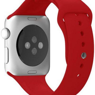 PURO ICON Elastyczny pasek sportowy do Apple Watch 42 / 44 mm (S/M/L) Czerwony AW44ICONRED