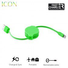 PURO ICON Retractable Cable - Zwijany kabel ligtning MFi (Green) 10_7686