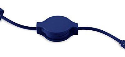 PURO Kabel ładowania MICRO USB ikona biała CMICRORTICONDKBLUE