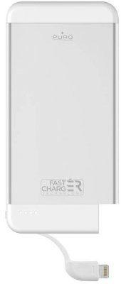 PURO PowerBank Fast Charger Ultra Slim Power Bank MFi Power Bank Aluminium z lightning 4100 mAh Srebrny FCBB41P1APLTSIL