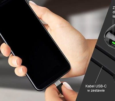 PURO Travel Fast Charger - Ładowarka sieciowa + kabel USB-C 1m (czarny) FCMTCUSBCUSB31BLK