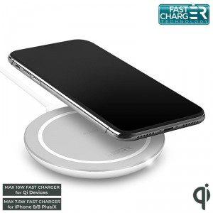 PURO Ultra Compact Wireless Charging Station QI Uniwersalna stacja bezprzewodowa USB-C z ładowaniem indukcyjnym Qi 9 V 1.1 A 10 W biały) FCCSQI10W1WHI_fo