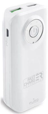 PURO Universal External Fast Charger Battery 4000mAh Biały ( FCBB40C3WHI)