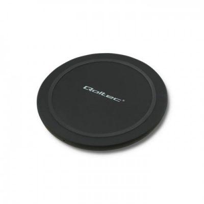 Qoltec Ładowarka indukcyjna RING | Qualcomm QuickCharge 3.0 | 10W | czarny (51841)