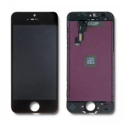 Qoltec Qoltec Wyświetlacz dotykowy LCD do Apple iPhone 5C | czarna ramka