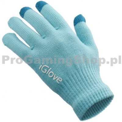 QualityAcessories Iglovia rękawiczki do obsługi ekranu dotykowego niebieski-Kobiety-rozmiar 18x11 cm