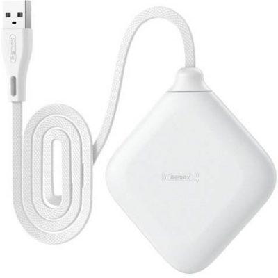 Remax bezprzewodowa ładowarka Qi 5 W do telefonu i słuchawek biały (RP-W14 white) 6954851233015