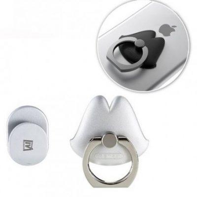 Remax Lips Ring uchwyt na telefon w kształcie ust srebrny 6954851263944