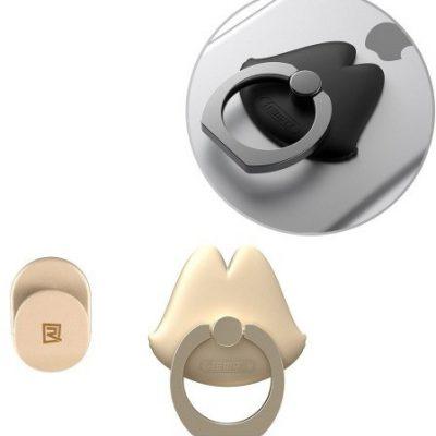 Remax Lips Ring uchwyt na telefon w kształcie ust złoty 6954851262251
