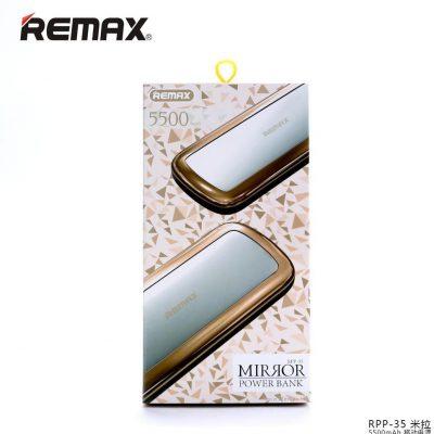 Remax Mirror 10000mAh Złoty