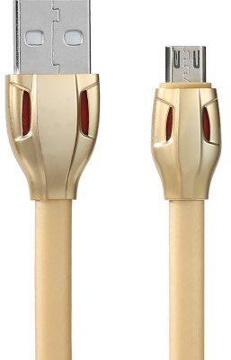 Remax RC-035m płaski kabel USB micro USB 1m nieplączący złoty 6954851270997