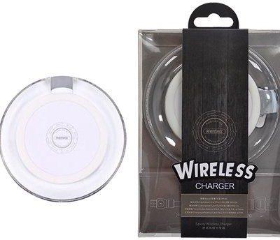 Remax Saway Wireless Charger RP-W1 bezprzewodowa ładowarka Qi indukcyjna podstawka + kabel micro USB biały 6954851279495