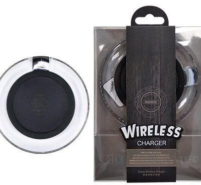 Remax Saway Wireless Charger RP-W1 bezprzewodowa ładowarka Qi indukcyjna podstawka + kabel micro USB czarny 6954851279501