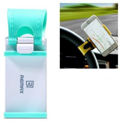 Remax Uniwersalny uchwyt samochodowy na kierownicę niebieski 7426790581285