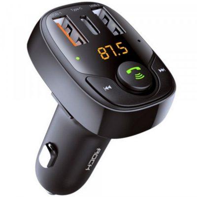 ROCK B301 2-PORT USB CAR CHARGER + TRANSMITER FM BLACK