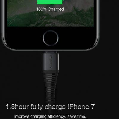 Rock Kabel USB ROCK Hi-Tensile Lightnin iPhone 200 cm Czerwony RCK006RED