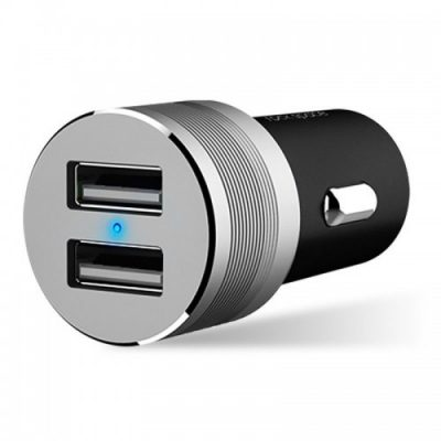 ROCK SITOR PLUS 2-PORT USB CAR CHARGER BLACK
