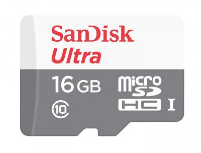 SanDisk MicroSDHC Ultra 16GB (SDSQUNS-016G-GN3MN)