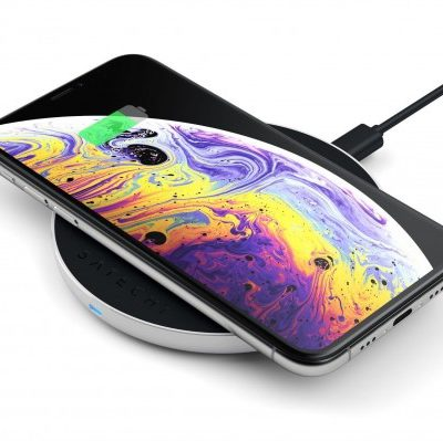 SATECHI SATECHI ALUMINUM TYPE-C PD & QC WIRELESS CHARGER Silver | iPhone Xs / Xs Max / Xr / X / 8 / 8 Plus ST-IWCBS