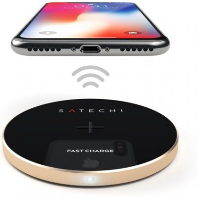 Satechi Satechi Aluminum Wireless Charger Gold   iPhone X ST-WCPG