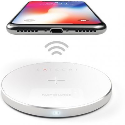 Satechi Satechi Aluminum Wireless Charger Silver | iPhone X ST-WCPS