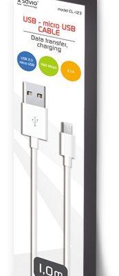 Savio Kabel USB Micro USB 1m