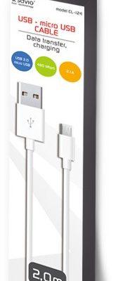 Savio Kabel USB Micro USB 2m